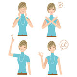 Various expressions of the woman Royalty Free Stock Images