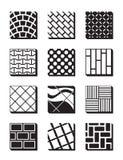 Various external building surfaces Stock Photos