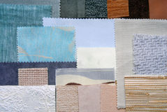 Various fabric swatches Royalty Free Stock Image