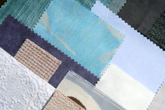 Various fabric swatches Stock Photography