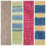various fabric texture royalty free stock photography