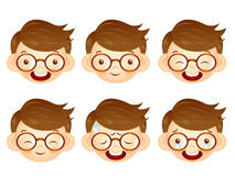 Various facial expressions of kids. Emotion Character Design Ser Stock Photos