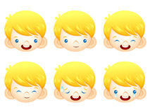 Various facial expressions of kids. Emotion Character Design Ser Stock Photography