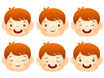Various facial expressions of kids. Emotion Character Design Ser Royalty Free Stock Image