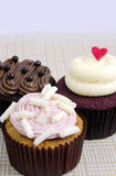 Various Fancy Cupcakes Stock Image