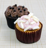 Various Fancy Cupcakes Stock Photography