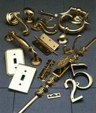 Various Fancy Hardware Pieces Stock Photography