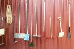 Various farming tools and equipments Stock Images