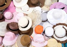 Various Fashion Hats Stock Photo