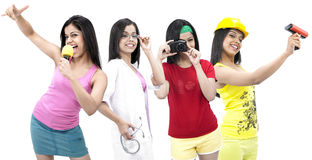 Various female professionals Royalty Free Stock Image