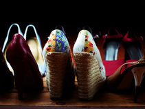 Various female shoes Stock Photos