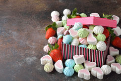 Various festive sweets Stock Image