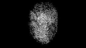 Various Fingerprints Running on black background