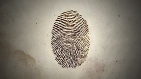 Various Fingerprints Running in a Loop on an Old Paper stock video