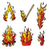 Various fire collection Stock Image