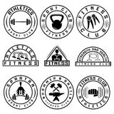 Various fitness labels and design elements Stock Photography