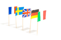 Various Flags. Isolated on a white background Royalty Free Stock Photos