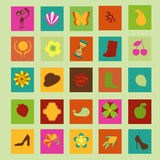 Various flat icons Stock Photo