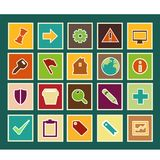Various flat icons Royalty Free Stock Image