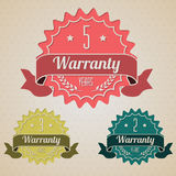 Various flat warranty icons Stock Photography