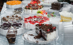 Various flavor of cake Stock Image