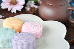 Various Flavor of Colorful Mooncake Royalty Free Stock Photos