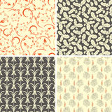 Various floral patterns Royalty Free Stock Photo