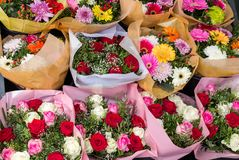 Various flower bouquets Royalty Free Stock Photo