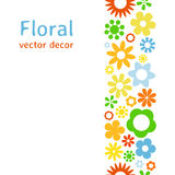 Various flower frame background Royalty Free Stock Images