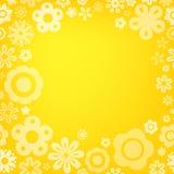 Various flower frame background Stock Photo