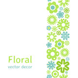 Various flower frame background Stock Photography
