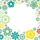 Various flower frame background Stock Images