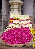 Various flowers in Delhi street market Stock Photo