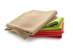 Various folded cotton napkins Royalty Free Stock Photo