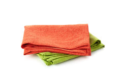 Various folded cotton napkins Royalty Free Stock Image