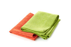 Various folded cotton napkins Stock Image