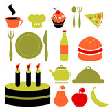 Various food icons set Stock Images