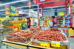 Various food in supermarket,China Royalty Free Stock Photography