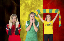 Various football fans Royalty Free Stock Photo