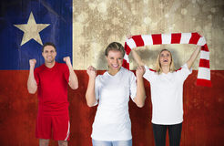 Various football fans Stock Images