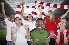 Various football fans Royalty Free Stock Photos