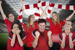 Various football fans Stock Photos