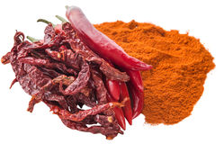 Various Form Of Chili Stock Photography