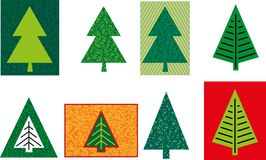 Various form of Christmas firs. Various stylized form of Christmas firs Royalty Free Stock Images