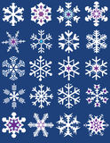Various forms snowflakes collection Stock Photography