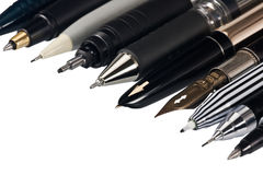 Various fountain pens Stock Images
