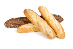 Various of french baguette Stock Images