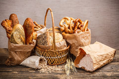 Various fresh baked goods Royalty Free Stock Image