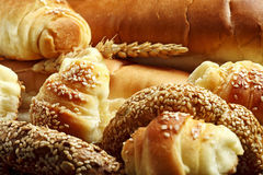 Various fresh bakery products Stock Photography