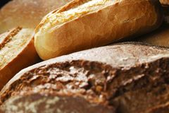 Various bread background Royalty Free Stock Photos